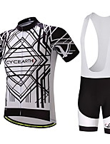 CYCEARTH Cycling Jersey Bib Shorts Pants Short Sleeve Men's Bike Clothing Suits Anti-slip Strap Spring Summer Breathable Ultrathin Ultralight