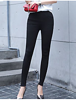 Women's Thin Solid Color Legging,Solid