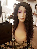 Hot Selling Lace Front Human Hair Wigs Kinky Curly with Baby Hair 130% Density Brazilian Virgin Hair Curly Wig for Blck Woman