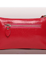 Women Clutch Cowhide All Seasons Casual Outdoor Square Zipper Wine Red Black