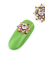 2PCS  Alloy  Diamante Luxury  Jewel Nail Art Decoration