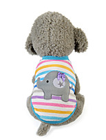 Dog Vest Dog Clothes Casual/Daily Cartoon Blushing Pink Light Blue Rainbow Stripe Random Color