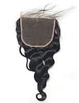 Свободная волна 5x5inch кружево закрытие человеческих волос верхняя часть кружева с детскими волосами