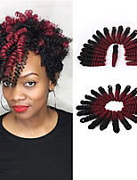 Pre-curled Textured Synthetic Curlkalon Hair 10inch Easy Crochet Braids Toni curl Kanekalon Curls 20pcs/pack ombre color braiding hair extension
