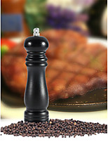 6inch Black Wood Pepper Mill Shaker Home Kitchen Chateauneuf Pepper Grinder