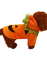 Dog Costume Dog Clothes Cosplay Halloween Solid Orange