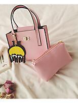 Women Shoulder Bag PU All Seasons Casual Outdoor Square Zipper Blushing Pink Black White