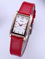 Жен. Модные часы Кварцевый Кожа Pезина Группа Красный