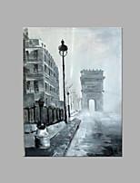 Peint à la main Abstrait Format Vertical,Plage Un Panneau Toile Peinture à l'huile Hang-peint For Décoration d'intérieur