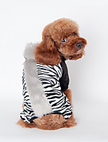 Dog Vest Dog Clothes Casual/Daily Zebra Black Brown Blushing Pink