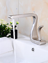 Drawing Faucet Single handle Lavatory Waterfall Bathroom Sink Faucet