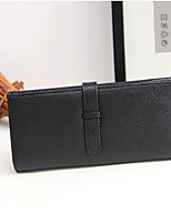 Women Checkbook Wallet Cowhide All Seasons Casual Rectangle Toggle Clasp Blushing Pink Ruby Black