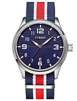 CURREN Hombre Reloj Deportivo Reloj de Moda Reloj de Pulsera Reloj creativo único Reloj Casual Cuarzo Tejido BandaCasual Creativo De Lujo