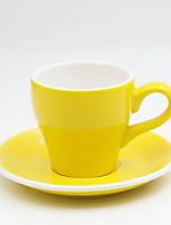 Conjunto de xícara de café em caju de cerâmica de cor européia 280ml