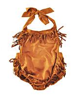 малыш 1 предмет Хлопок Мода Однотонный Лето Без рукавов