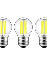 6W LED лампы накаливания G45 6 COB 560 lm Тёплый белый Белый Декоративная AC 220-240 V 3 шт.