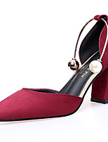 Women's Sandals Comfort Rubber Summer Outdoor Walking Comfort Buckle Block Heel Burgundy Blushing Pink Beige Black Under 1in