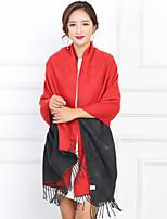 Women's Imitation Cashmere Rectangle Color Block Winter Fall/Autumn
