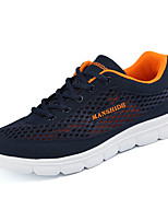 Men's Sneakers Comfort Spring Summer PU Casual Low Heel Black Orange Under 1in
