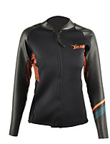 Women's 3mm Wetsuit Top Sports Tactel Diving Suit Long Sleeve Tops-Snorkeling All Seasons Solid