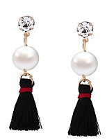 Women's Drop Earrings Jewelry Imitation Pearl Tassel Euramerican Oversized EVA Resin Alloy Geometric Jewelry ForWedding Anniversary