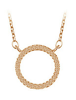 Women's Choker Necklaces Circle Gold Plated Dangling Style Fashion Silver Jewelry For Party Daily 1pc