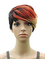 Synthetic Hair Colored Wig Short Curly Woman Shag Layered Wigs High Temperature Fiber