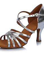 2017 Classic Brand Modern Latin Sandals Customizable Women's Dance Shoes  Heeled shoes Leather/PU Silver