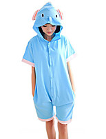 Kigurumi Pajamas Elephant Leotard/Onesie Festival/Holiday Animal Sleepwear Halloween Patchwork Cotton Kigurumi For Unisex Carnival