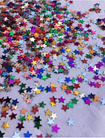 15 G / 1 Pack About 2000 Pieces Of Colorful Sequins/PVC Moon Star Color Sequins/Wedding Decoration