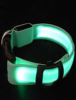 Colliers Portable Eclairage LED Ajustable Couleur Pleine Nylon