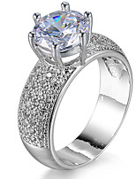 Ring Settings Ring Band Rings Women's Euramerican Luxury Elegant Round Style  Zircon Rhinestone Wedding  Birthday Party  Movie Gift Jewelry