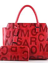 Damen Bag Sets Andere Lederart Ganzjährig Normal Andere Reißverschluss Schwarz Rote Beige Braun