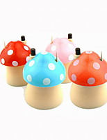 Lovely Mushroom Plastics Wood Cartoon Design Automatic Toothpick Holder 1PC (Color Random)