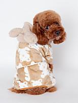 Собака Пижамы Одежда для собак На каждый день Животные Черный Кофейный Розовый