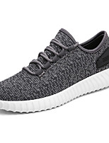 Men's Sneakers Comfort Light Soles Spring Fall Tulle PU Casual Outdoor Lace-up Flat Heel Black Gray Green Flat