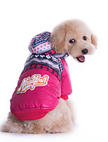Dog Hoodie Dog Clothes Casual/Daily Geometric Fuchsia Blue