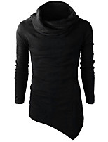 Men's Going out Casual/Daily Simple Sweatshirt Solid Turtleneck Micro-elastic Others Long Sleeve Winter