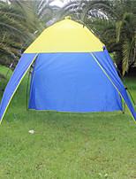 3-4 personnes Tente Unique Tente pliable Une pièce Tente de camping <1000mm PolyesterCamping & Randonnée Etanche Résistant à la poussière