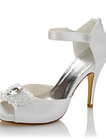 Women's Heels Comfort Satin Summer Fall Wedding Party & Evening Comfort Crystal Stiletto Heel
