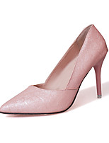 Mujer Zapatos de taco bajo y Slip-Ons Suelas con luz TPU Primavera Otoño Vestido Fiesta y Noche Paseo Suelas con luz Flor de SaténTacón