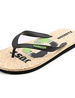 Men's Sandals Comfort PU Spring Fall Outdoor Comfort Flat Heel Dark Brown Blue Black Flat