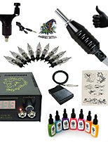1 Set High Born Tattoo Kit HR6 Rotary Machine With 7x15ML Inks 5 Needles Power Supply Switch