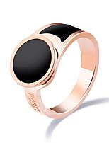 Damen Ring Vintage Elegant Titanstahl Runde Form Schmuck Für Hochzeit Party Verlobung Alltag Zeremonie
