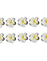 10 pcs Dimmable LED Recessed Lights 1w Warm White Crystal 220v