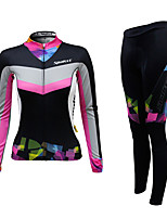 Cycling Jersey with Tights Women's Female Long Sleeve Bike Pants/Trousers/Overtrousers Jersey Clothing SuitsCycling Low Windage