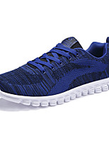 Men's Sneakers Comfort Mary Jane Spring Fall Knit Athletic Casual Outdoor Lace-up Flat Heel Black Dark Blue Blue Flat