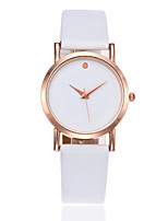 Women's Kid's Fashion Watch Chinese Quartz PU Band Charm Elegant Minimalist Black White