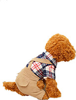 Dog Harness Dog Clothes Casual/Daily Solid Khaki Stripe Dark Blue