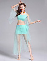 Belly Dance Outfits Women's Performance Modal Splicing 2 Pieces Half Sleeve Natural Top / Skirts